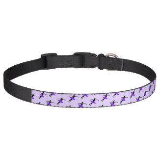 バレリーナのバレエのダンスの先生のPointeの紫色のチュチュ ペット首輪