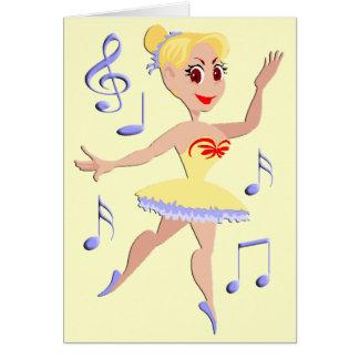 バレリーナのバレエ音楽 カード