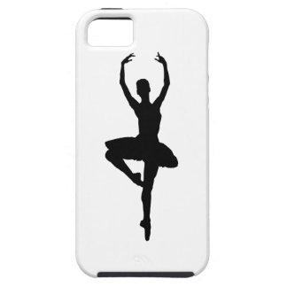 バレリーナのピルエット(バレエのダンスのシルエット)の~~ iPhone SE/5/5s ケース