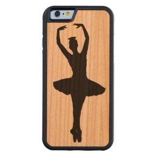 バレリーナのピルエットEN POINTE (バレエダンサー)の~ CarvedチェリーiPhone 6バンパーケース