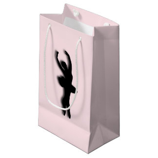 バレリーナのピンク スモールペーパーバッグ