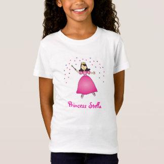 バレリーナのプリンセスの名前入りな女の子のワイシャツ Tシャツ