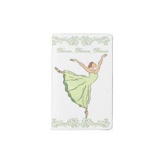 バレリーナの優美のダンス ポケットMoleskineノートブック
