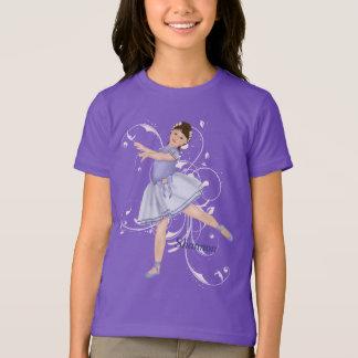 バレリーナの女の子のパステル Tシャツ