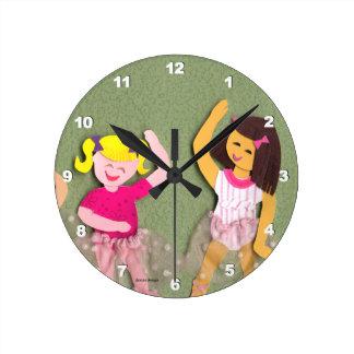 バレリーナの時計 ラウンド壁時計