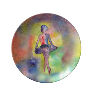 バレリーナの芸術の装飾的な磁器皿 磁器プレート