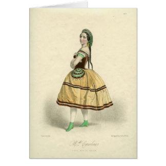 バレリーナのMlle。 キャロラインLassiatの挨拶状 カード