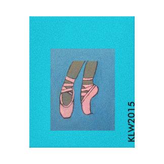 バレリーナのPointeの靴 キャンバスプリント