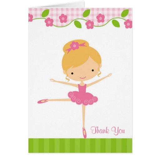 バレリーナ 女の子 感謝していして下さい  カード