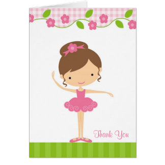バレリーナ 女の子 感謝していして下さい  カード グリーティングカード