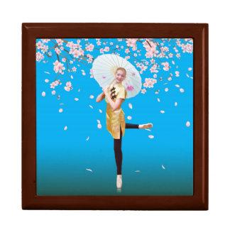 バレリーナ、桜のタイルのギフト用の箱 ギフトボックス