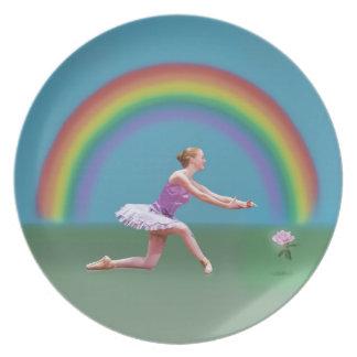 バレリーナ、虹は、上がり プレート