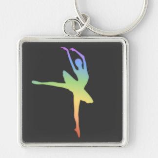 バレリーナ-虹1 キーホルダー
