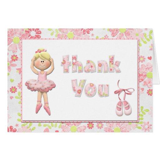 バレリーナ 誕生日 パーティ 感謝していして下さい  カード グリーティング・カード
