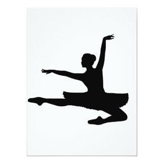 バレリーナJETÉ (バレエダンサーのシルエット)の~ カード