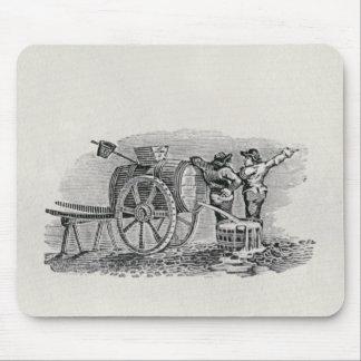 バレルのカートを持つ2人 マウスパッド