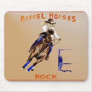 バレルの馬Rock_Mousepad マウスパッド