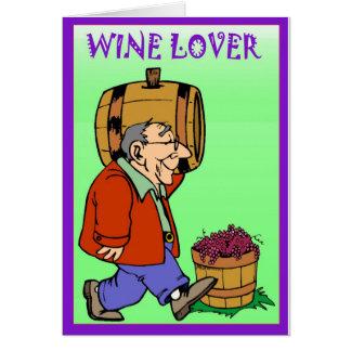 バレルを持つワイン愛好家、 カード