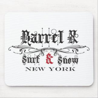バレルXの限られた波及び雪ニューヨーク マウスパッド