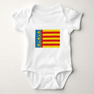 バレンシアの旗 ベビーボディスーツ