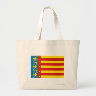 バレンシアの旗 ラージトートバッグ