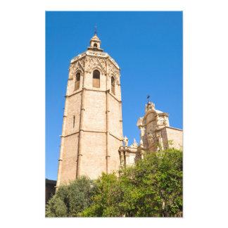 バレンシア、スペインのカテドラル フォトプリント