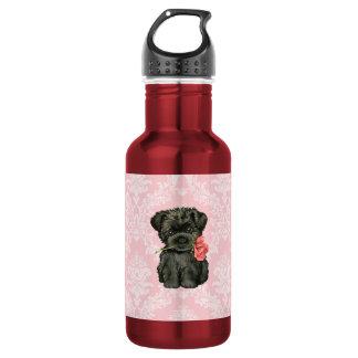 バレンタインのばら色のアーフェンピンシャー ウォーターボトル