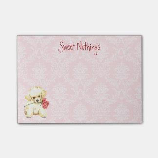 バレンタインのばら色のトイプードル ポスト・イット®ノート