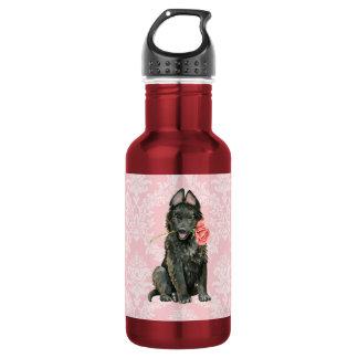 バレンタインのばら色のベルギーの牧羊犬 ウォーターボトル