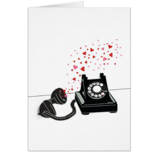 バレンタインのカード-レトロの電話 カード