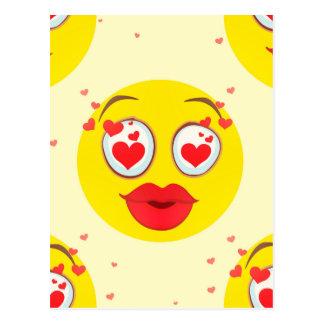 バレンタインのキスEmoji ポストカード