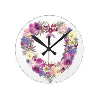バレンタインのギフト ラウンド壁時計