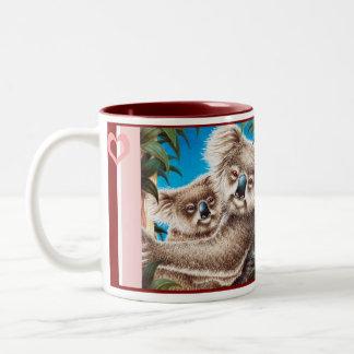 バレンタインのコアラのマグ ツートーンマグカップ