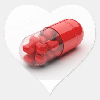 バレンタインのシナモンのハートの丸薬カプセル ハートシール