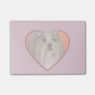 バレンタインのシーズー(犬)のTzu犬のポスト・イット ポストイット
