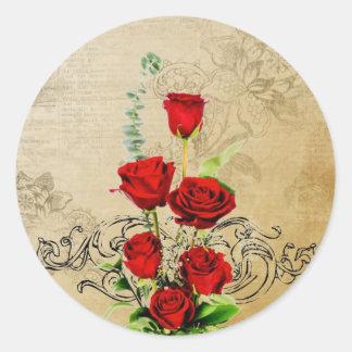 バレンタインのステッカー ラウンドシール