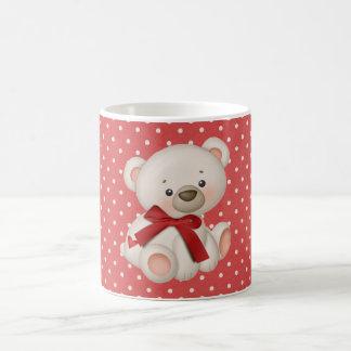 バレンタインのテディ コーヒーマグカップ