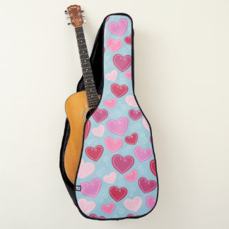 バレンタインのハートのアコースティックギターのバッグ ギターケース