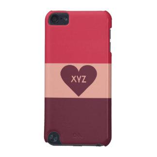バレンタインのハートのカスタムなモノグラムのケース iPod TOUCH 5G ケース