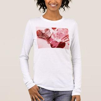 バレンタインのハートのコラージュのBellaのTシャツ 長袖Tシャツ