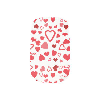 バレンタインのハートのネイルアート ネイルアート