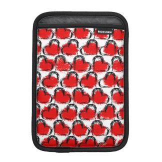バレンタインのハートの列 iPad MINIスリーブ