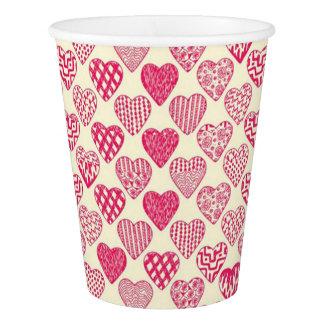 バレンタインのハートの紙コップ 紙コップ