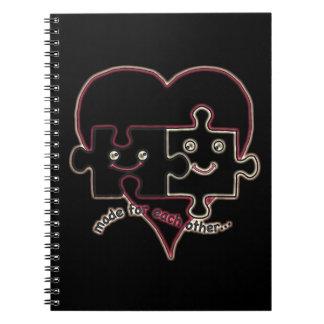 バレンタインのハート ノートブック