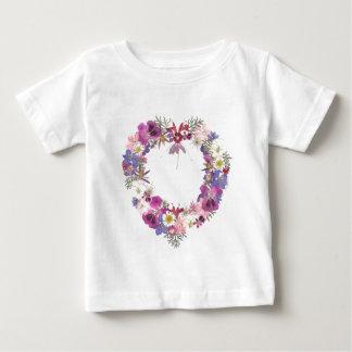 バレンタインのハート ベビーTシャツ