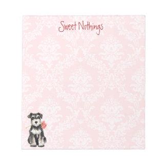 バレンタインのバラの小型シュナウツァー ノートパッド