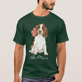 バレンタインのバラの英国スプリンガー Tシャツ