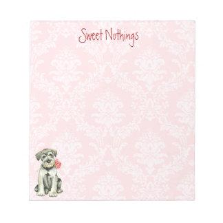 バレンタインのバラ標準シュナウツァー ノートパッド