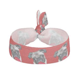バレンタインのパグ犬 ヘアタイ