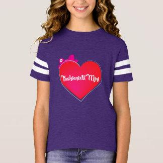 バレンタインのファッショニスタ小型スポーティな女の子のティー Tシャツ